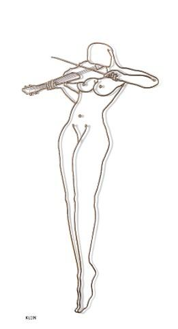 naked Violin or violin with nude